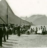 Norvège Le Quai à Oe Ancienne Photo Stereoscope Anonyme 1900 - Stereoscopic
