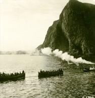 Norvège Embarquement Au Cap Boreal Cap Nord Ancienne Photo Stereoscope Anonyme 1900 - Stereoscopic