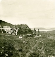 Norvège Camp De Lapons Samis Ancienne Photo Stereoscope Anonyme 1900 - Stereoscopic