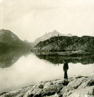 Norvège Iles Lofoten Ancienne Photo Stereoscope Anonyme 1900 - Stereoscopic