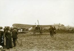 France Pionnier De L'Aviation Grandes Manoeuvres De L'Ouest Bleriot Ancienne Photo Meurisse 1912 - Photos