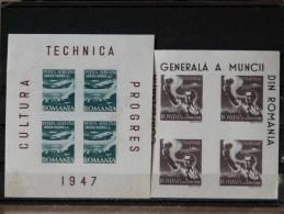ROUMANIE - BF 36A/37 * (Pli Au Verso Du 36A) - Blocks & Kleinbögen
