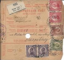 Sprovodni List (Bulletin D´expédition) DO000031 - Novi Sad To Stari Becej 1923 - Facturen & Commerciële Documenten