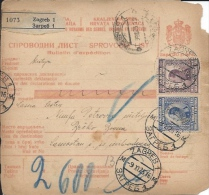 Sprovodni List (Bulletin D´expédition) DO000038 - Zagreb To Brcko 1925 - Fatture & Documenti Commerciali
