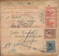 Sprovodni List (Bulletin D´expédition) DO000044 - Bijeljina To Sarajevo 1927 - Fatture & Documenti Commerciali