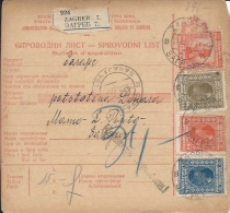 Sprovodni List (Bulletin D´expédition) DO000046 - Zagreb To Sarajevo 1927 - Fatture & Documenti Commerciali