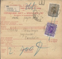 Sprovodni List (Bulletin D´expédition) DO000050 - Osijek To Varazdin 1928 - Facturen & Commerciële Documenten