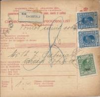 Sprovodni List (Bulletin D´expédition) DO000054 - Zagreb To Varazdinske Toplice 1928 - Invoices & Commercial Documents
