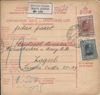 Sprovodni List (Bulletin D´expédition) DO000068 - Negotin Krajinski To Zagreb 1929 - Other