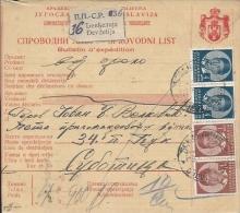 Sprovodni List (Bulletin D´expédition) DO000070 - Djevdjelija To Subotica 1938 - Invoices & Commercial Documents