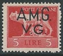 1945-47 TRIESTE AMG VG LUPA 5 LIRE MNH ** - L3-3 - Trieste