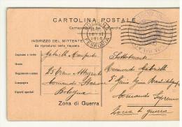 CARTOLINA POSTALE - CORRISPONDENZA DEL R. ESERCITO - PER ZONA DI GUERRA - BOLOGNA FERROVIA - ANNO 1916 - II° SCELTA - - 1900-44 Vittorio Emanuele III