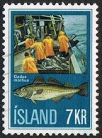 Iceland SG489 1971 Icelandic Fishing Industry 7k Good/fine Used - Used Stamps