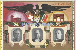 17710 ITALY ROMA LACIO RECONCILIATION BETWEEN CHURCH & HERLADRY POSTAL POSTCARD - Italie