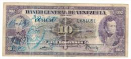 Venezuela, 10 Bolivares 1955, VG. Rare!!! - Venezuela