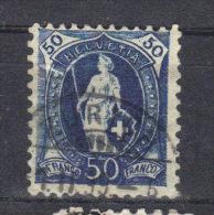 N°76 (1882) Bleu Trés Foncé - 1882-1906 Wappen, Stehende Helvetia & UPU