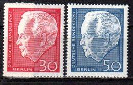 Berlin 1967 Mi. 314-315 ** Heinrich Lübke Postfrisch (br0202) - Ungebraucht