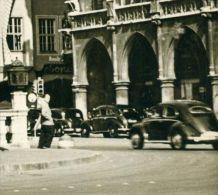 Rarität PKW VW Brezel Taxi Verkehrsschild München Sw 5.10.1961 - Taxis & Droschken