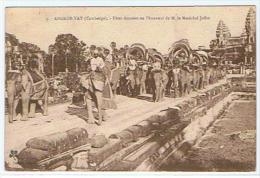 ANGKOR FETES DONNEES EN L HONNEUR DE M.LE MARECHAL JOFFRE ****      SUPERBE CARTE  ******* - Cambodia