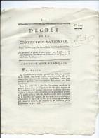 AN II De La République-Decret Qui Prononce La Peine De Mort Contre Tout Falsificateur De La Declaration Des Droits De L' - Gesetze & Erlasse