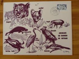 Gravure De Sainson Faune De Guyane 1974 (21x27cm) - Postzegels