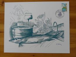 Gravure De Sainson Pays De La Loire Poisson Fish Nantes 1975 (21x27cm) - Fishes