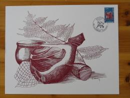 Gravure De Sainson Région Auvergne Gastronomie Clermont Ferrand 1975 (21x27cm) - Levensmiddelen
