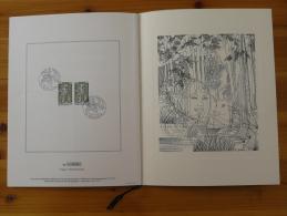 Encart Avec Gravure De Sainson Forêt De Tronçais Ed. FFNE (french WWF) Montluçon Allier 1976 N°318 - Trees