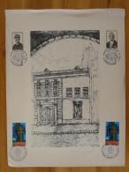 Gravure De Bourguignon Mémorial Charles De Gaulle Wambrechies Colombey 1977 (24x32cm) - De Gaulle (Général)