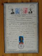 Encart Commémoratif De Gaulle Sur Carton épais Et Photo Au Verso (tirage 250 Ex- N°4) - De Gaulle (Général)