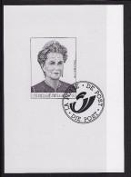 Zwart-Wit Velletje Koningin Paola - Black-and-white Panes