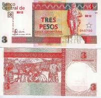 3 PESOS CONVERTIBLES Aus Kuba -3 CUC- (tres Pesos De Cuba) - Bankfrisch Unc-  2006 - Siehe Bilder - Kuba