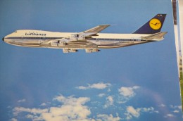 AIRLINES ISSUE / CARTE COMPAGNIE         LUFTHANSA    BOEING  B 747 200 - 1946-....: Moderne