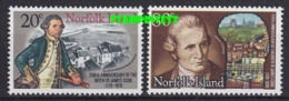 Norfolk Island 1979 Captain Cook 2v ** Mnh (24986) - Norfolk Eiland