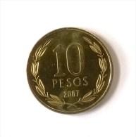 10 Peso 2007 - Superbe +++ - - Chili