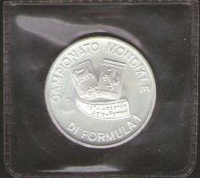 ITALIA GETTONE FORMULA 1 AGIP FERRARI (1974) Argento Proof 24 Mm./gr.5,0 - Italia