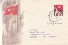 Drapeaux - Pologne - Lettre De 1958 - Oblitération Warszawa - Expédié Vers La Belgique - 1944-.... République