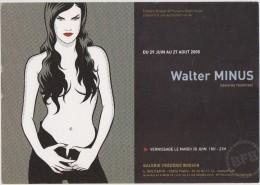 Grande Carte D'invitation WALTER MINUS Année 2005 - Ex-libris