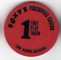 1 Free Play Token : Foxy's Firehouse Casino à Las Vegas - Casino