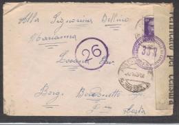 7416-BUSTA DI LETTERA DALLA POSTA MILITARE - 200 SEZ. A - 4 FEBBRAIO 1943 - Marcophilie