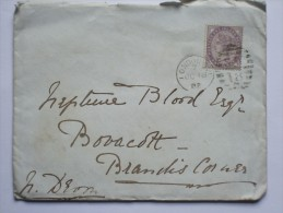 GB 1882 ENTIRE WITH LONDON DUPLEX AND RARE BLANDIS CORNER RECEIVING MARK AND CREDITON TRANSIT MARK - Lettres & Documents
