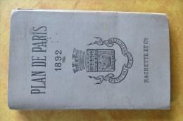 PLAN DE PARIS 1892 - 1801-1900