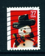 USA  -  2002  Christmas Snowmen  37c  Used As Scan - Verenigde Staten