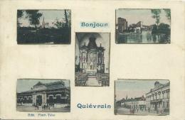 Quièvrain - Bonjour  - Carte Multivues, 5 Vues - 1914 ( Voir Verso ) - Quiévrain