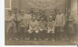 GUERRE 1914.18 CAMPAGNE 1914 15 16 CARTE PHOTO DE MILITAIRES DU 342 EME TERRITORIAL 9 EME CIE SECTEUR POSTAL 182( 1916) - Weltkrieg 1914-18