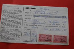 RARE ORAN 1965 USAGE TARDIF DE TIMBRES FISCAUX Français FISCAL D´ AVANT INDEPENDANCE S DOCUMENT ALGERIEN AP INDEPENDANCE - Algeria (1924-1962)
