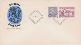 Finland-1963 Definitive 0.60 And 0.05 Mark On Ordinary Paper First Day Cover - FDC