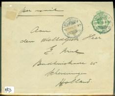 LP * NEDERLANDS-INDIE * BRIEFOMSLAG Uit 1922 Van WELTEVREDEN Naar SCHEVENINGEN  (9873) - Nederlands-Indië