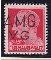 1945 Italia Italy Venezia Giulia AMMINISTRAZIONE ANGLO - AMERICANA 20c Carminio Varietà Della Soprastampa (3hc) MNH** - Venezia Giulia