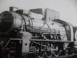Carte Photo H Chemins De Fer Train Locomotive A Identifier - Treinen